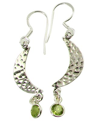 Design 21103: green peridot earrings