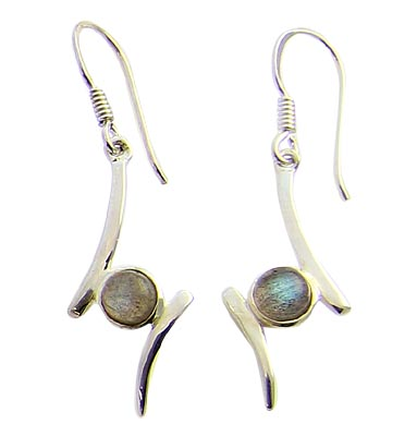 Design 21105: green labradorite earrings