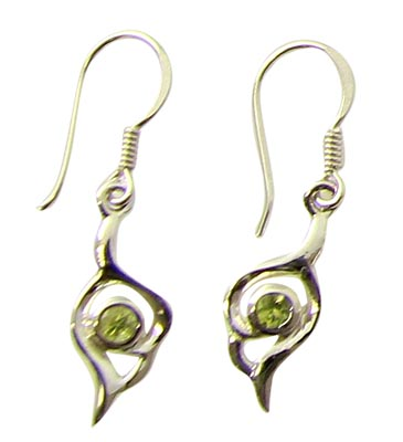 Design 21108: green peridot earrings