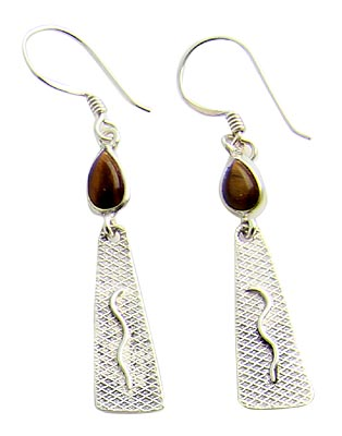 Design 21123:  tiger eye earrings