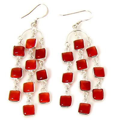 Design 21124: orange carnelian earrings