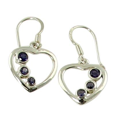 Design 21126: blue iolite earrings