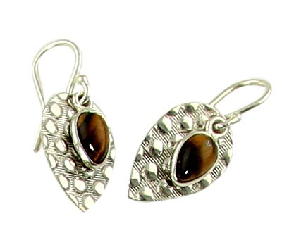 Design 21127: brown tiger eye earrings