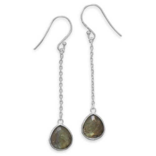 Design 21724: gray labradorite earrings
