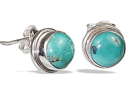Design 3002: green turquoise post earrings