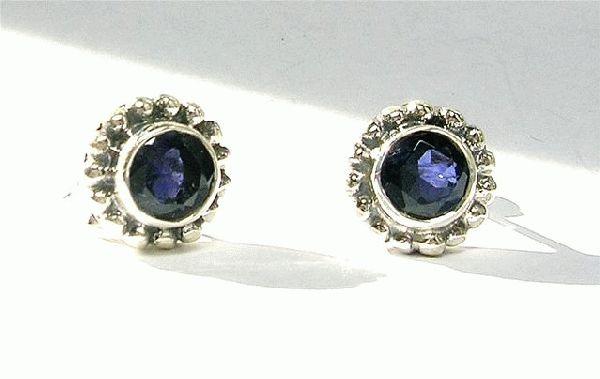 Design 3090: blue iolite post, stud, studs earrings