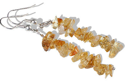 Design 5471: yellow citrine chipped earrings
