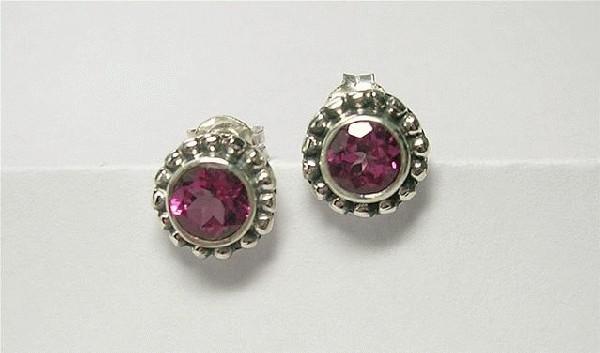 Design 5550: pink pink topaz flower earrings