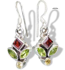 Design 6005: multi-color multi-stone drop earrings