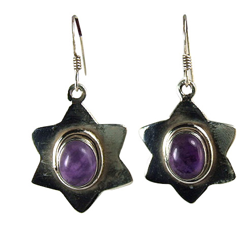 Design 6025: purple amethyst star earrings