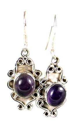 Design 6038: purple amethyst drop earrings