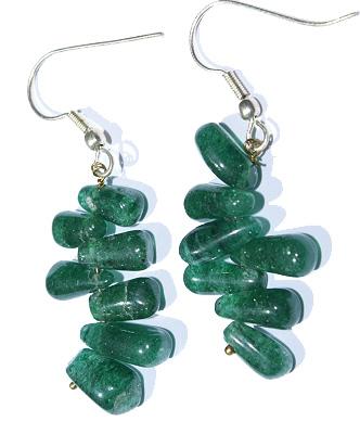 Design 6047: green aventurine drop earrings