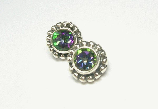Design 6204: multi-color mystic quartz post, stud earrings