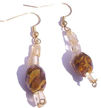 Design 6361: orange,yellow citrine earrings