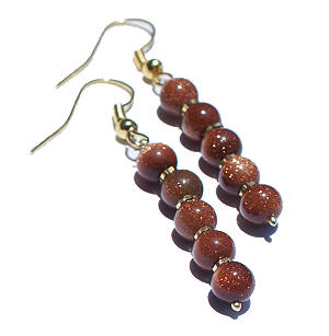 Design 6371: brown goldstone earrings