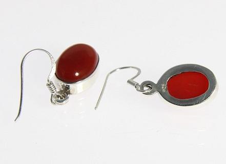 Design 6373: orange carnelian earrings