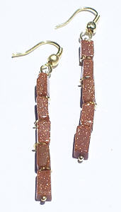 Design 6374: brown goldstone earrings