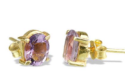 Design 6406: purple amethyst post earrings