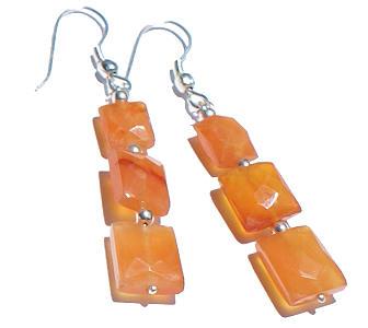Design 6410: orange carnelian earrings