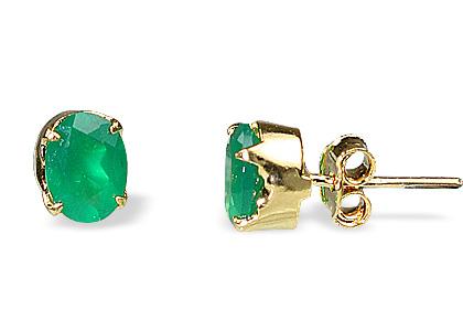 Design 651: green onyx post earrings