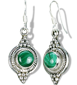 Design 7107: green malachite earrings