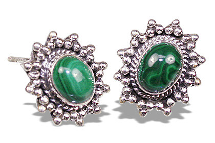 Design 7116: green malachite earrings