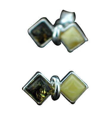 Design 7132: yellow amber studs earrings