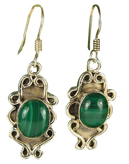 Design 7156: green malachite earrings