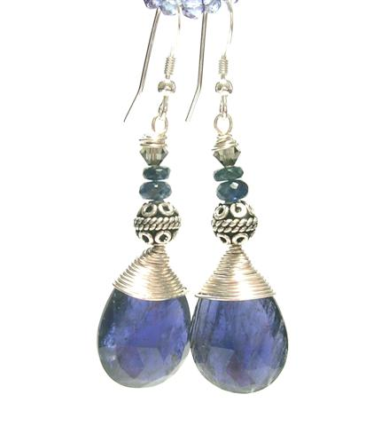 Design 7376: blue iolite earrings