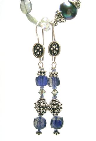 Design 7540: blue iolite earrings