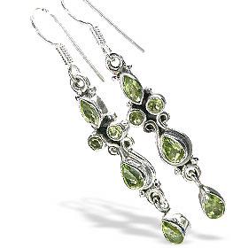 Design 7864: green peridot earrings