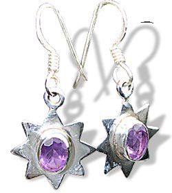 Design 7869: purple amethyst star earrings