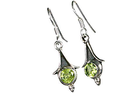 Design 7875: green peridot earrings
