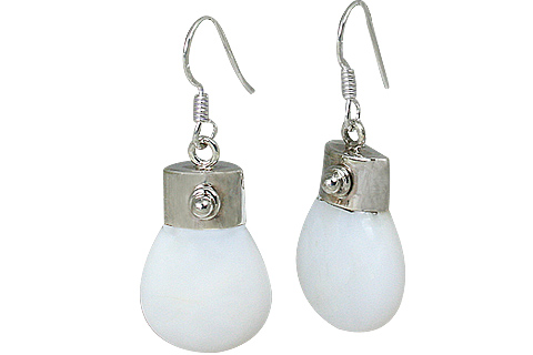 Design 7910: white opal earrings