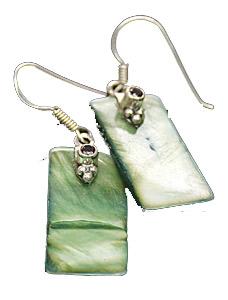 Design 7915: Green abalone earrings