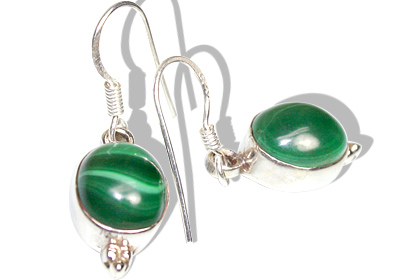 Design 7916: green malachite american-southwest earrings
