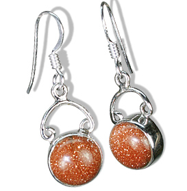 Design 7917: orange goldstone contemporary earrings