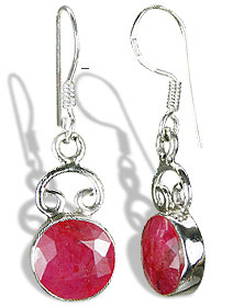 Design 7921: red ruby earrings