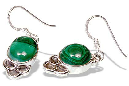 Design 7926: green malachite earrings