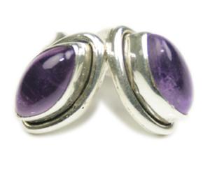 Design 7964: purple amethyst post earrings