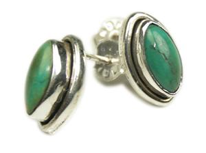 Design 7966: green turquoise studs earrings