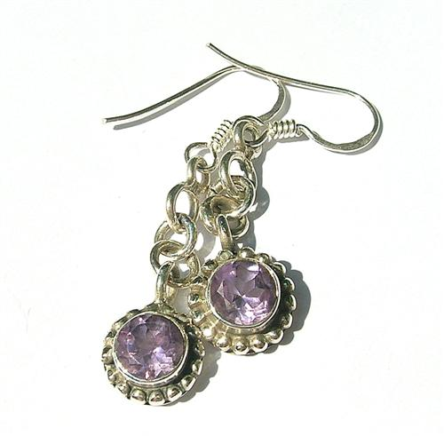Design 8125: purple amethyst earrings