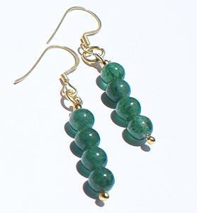 Design 871: green aventurine earrings