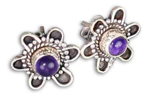 Design 8762: purple amethyst ethnic earrings