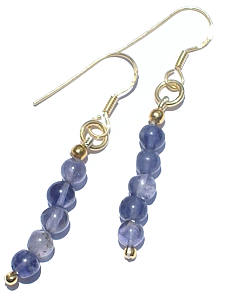 Design 984: blue iolite earrings