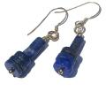 Design 1083: blue lapis lazuli earrings