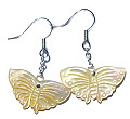 Design 15086: yellow shell earrings