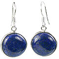 Design 16168: blue lapis lazuli contemporary earrings