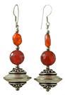 Design 17632: orange carnelian earrings