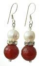 Design 17716: orange carnelian earrings